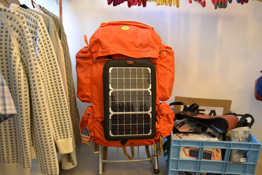 Voltaic makes rugged, portable solar panels designed to fit over any pack.