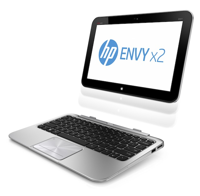 The HP ENVY X2, an 11-inch tablet hybrid model.