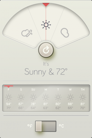 WthrDial's beautiful interface hides a few missing features.