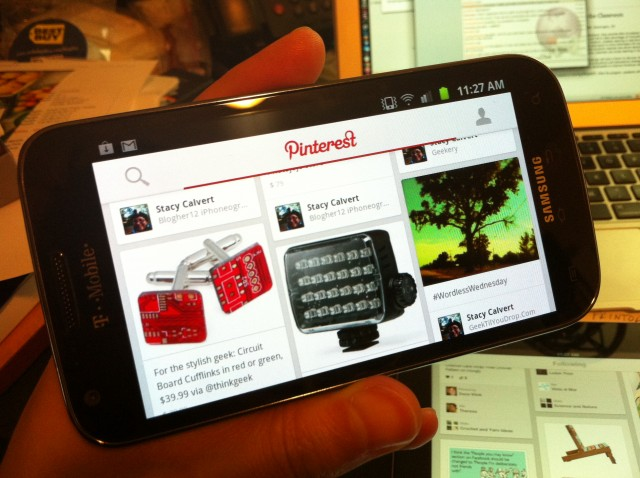 The Android version is designed to adapt to screens of different sizes, such as on a Galaxy SII.