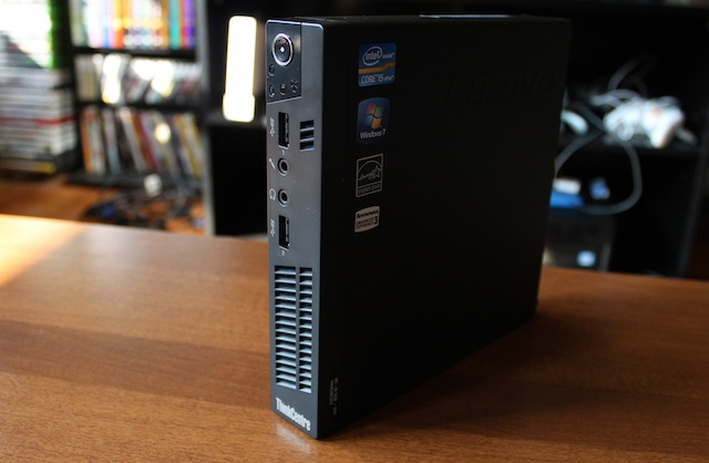 Lenovo's ThinkCentre M92p has much in common with the larger M92 desktops, but comes in a much smaller package.