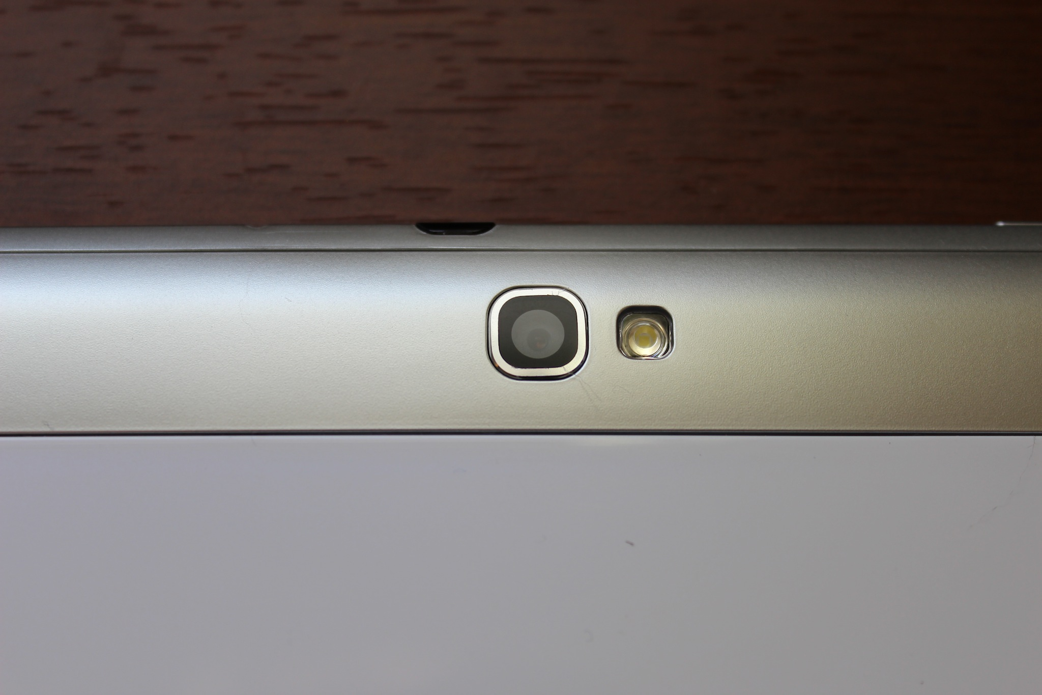 The Note 10.1's rear camera and flash.