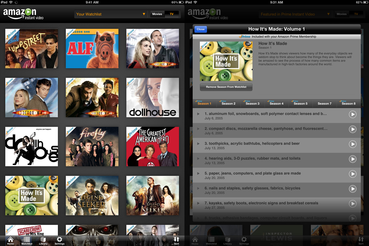 Hands-on: Amazon Instant Video on iPad sorely lacks Airplay support | Ars Technica