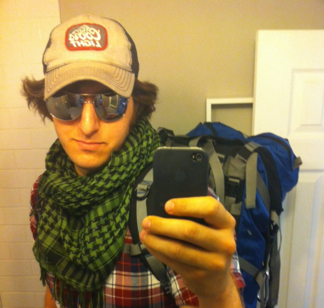 Backpacking nomad or game journalist? In this case, a little of both!
