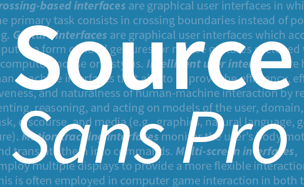 Adobe releases Source Sans Pro, a new open source font