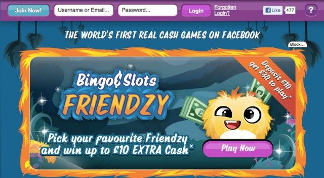 Bingo & Slots Friendzy is only available to UK-based Facebook users.