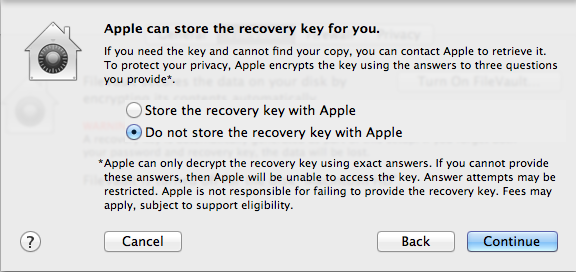 By default, FileVault keys can only be saved manually or stored with Apple, not on a local server.