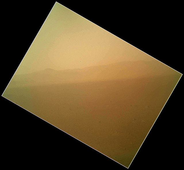The not-yet-deployed MAHLI camera's first color image arrived from Curiosity.