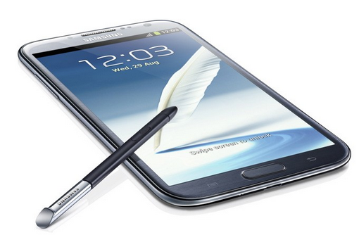 "The Galaxy Note II smartphone measures 3.17"" x 0.37"" x 5.95"" and weighs 0.40 lb."