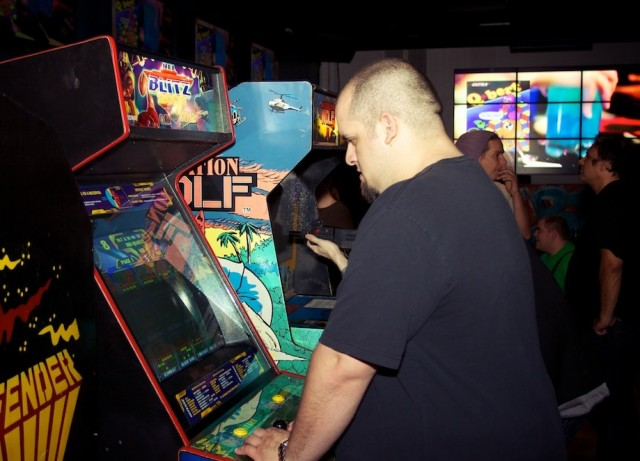 Patrons playing some of the classic games at Insert Coin(s).