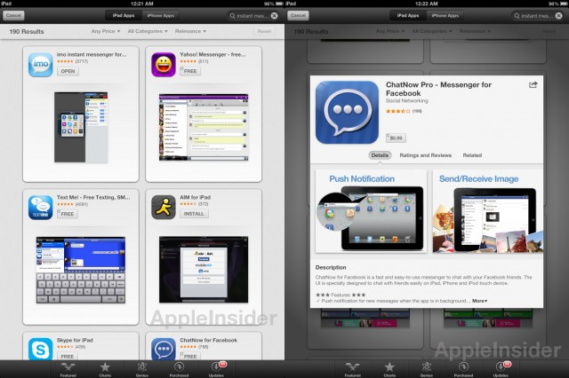"Searching for apps may be more ""visual"" when the App Store is updated with features from Chomp."