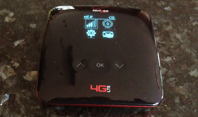 The Verizon 4G Jetpack Mobile Hotspot 890L in action
