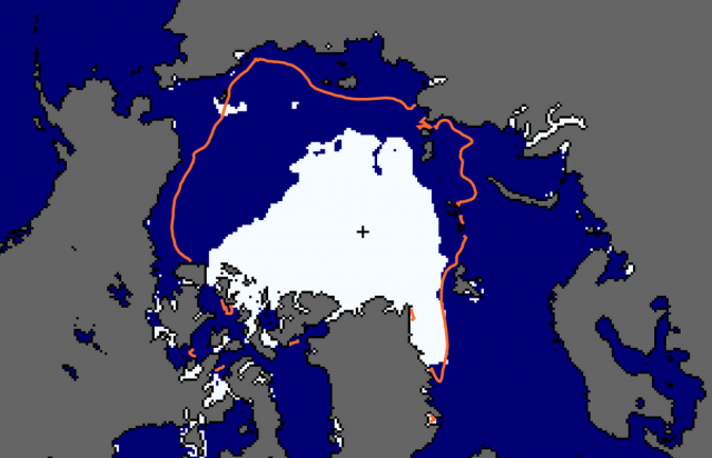 Arctic sea ice coverage plunges to record low