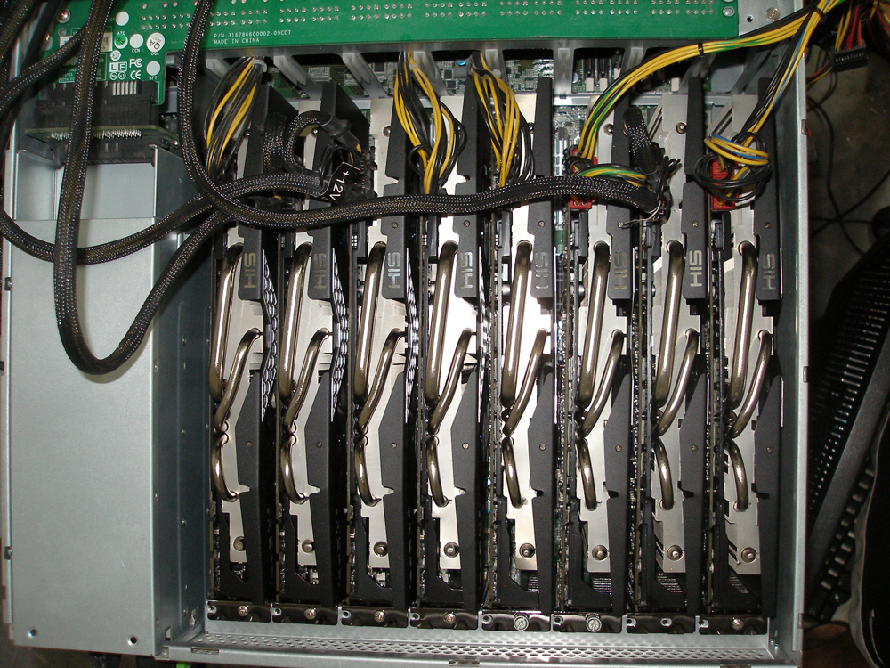 This $12,000 computer, dubbed Project Erebus v2.5 by creator d3ad0ne, contains eight AMD Radeon HD7970 GPU cards. Running version 0.10 of oclHashcat-lite, it requires just 12 hours to brute force the entire keyspace for any eight-character password containing upper- or lower-case letters, digits or symbols. It aided Team Hashcat in winning this year's Crack Me If You Can contest.