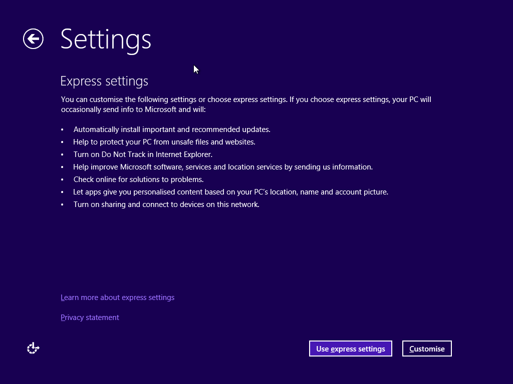 The Windows 8 default settings enable SmartScreen both for URLs and downloaded files, as covered in the second bullet.