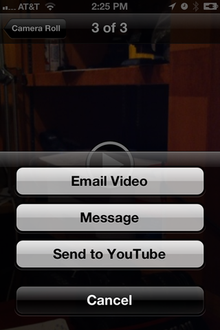 But will you still be able to upload your iPhone's videos directly to YouTube?
