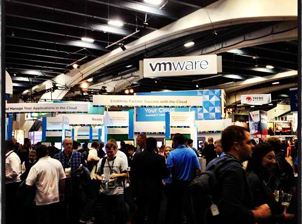 The crowd at VMworld.