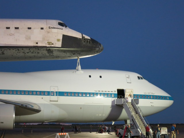 Forward sections of both Endeavour and SCA #1.