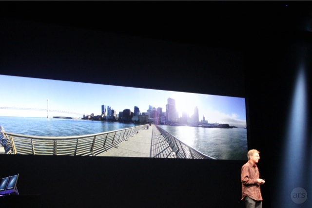 The new iPod touch can shoot the same panoramic images as the iPhone 5.