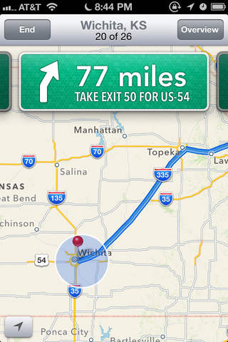 iOS 6's Maps now has turn-by-turn driving directions, but without the help of Google.