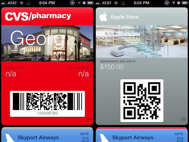Your store cards could all reside in Passbook, coming up on your lock screen automatically when you enter the store.