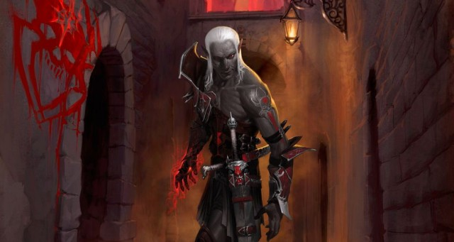 "Dark Elf concept art from the ""Rise of the Underdark"" campaign."