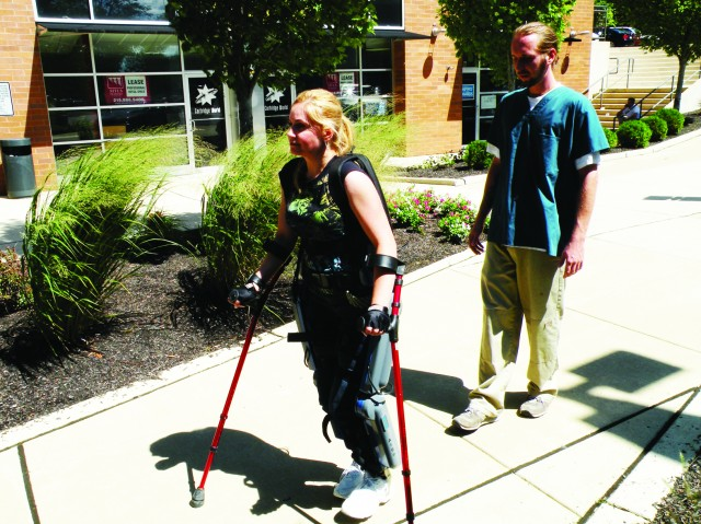The ReWalk exoskeleton in action