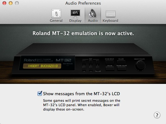 Boxer with Roland MT-32 support enabled. Trust me, you want this.