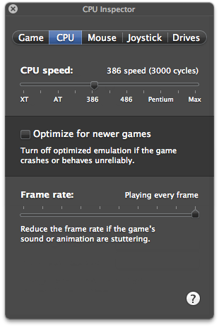 Speeding up or slowing down your emulation experience.