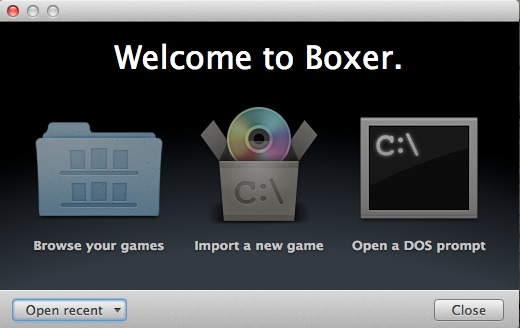 Boxer's startup screen.