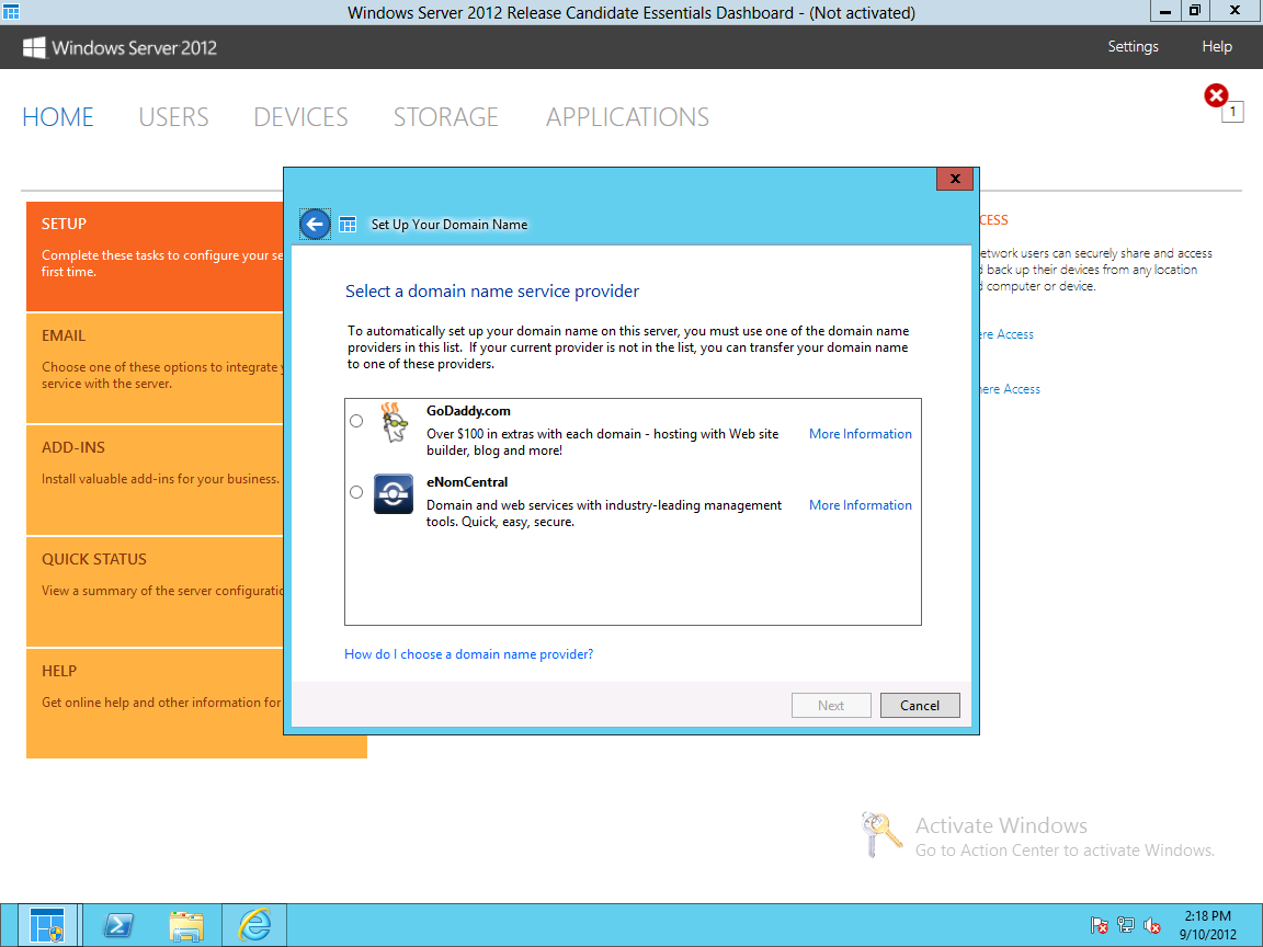 If you have an existing domain, the Anywhere Access wizard integrates with selected DNS providers to collect your SSL certificate; otherwise, you'll have to go through an extended remix of the wizard and get your certificate manually. Microsoft provides the certificate for free if you use the company's remote access domain.