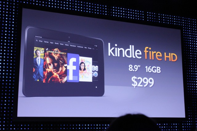 Amazon shows off Kindle Fire HD with 4G LTE for $499, WiFi for $299