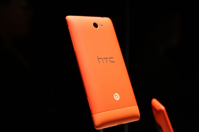 A red HTC 8S.