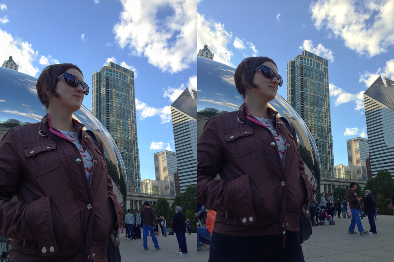 Comparing HDR results from the iPhone 4S (left) and iPhone 5 (right). The iPhone 5 seems to maintain better contrast in the shadows while bringing back highlight detail, particularly in the sky.