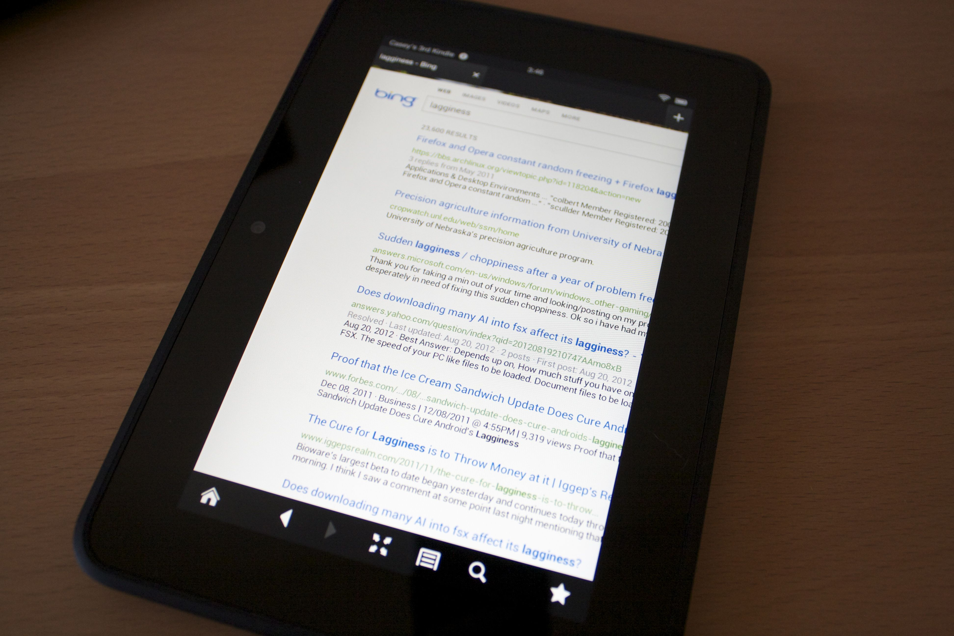 Kindle Fire HD 7 forecast: cloudy, with a chance of lag