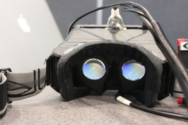 An early prototype of the Rift is watching yoooooooou.