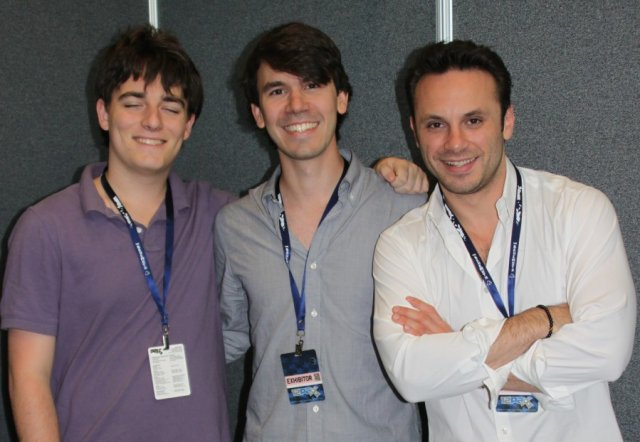From left to right: Oculus Founder Palmer Luckey, VP of Product Nate Mitchell, and CEO Brenden Iribe.