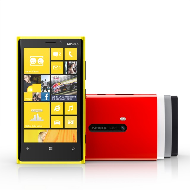 The Nokia Lumia 920 is amazingly yellow.