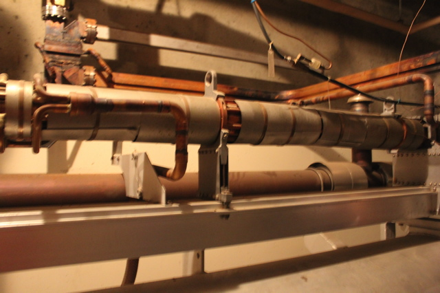 Finally, we got to the goods that brought everyone together that afternoon—the particle accelerator beam is found in these pipes.