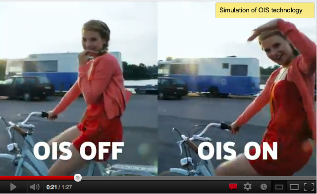 "After being caught faking the capabilities of its Lumia 920 camera, Nokia added the ""simulation"" disclaimer to this video."