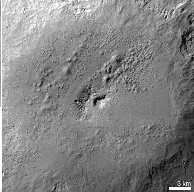 Pits in the Marcia crater on Vesta resemble features found on Mars, indicating the possible presence of water and other volatile substances on the asteroid.