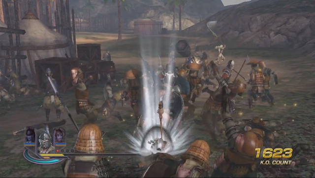 The kind of enemy-filled scene that the Wii U CPU has some trouble with, according to <i>Warriors Orochi 3 Hyper</i> producer Akihiro Suzuki.