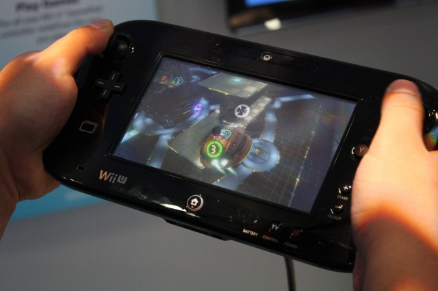 The screen on the GamePad looked very good.
