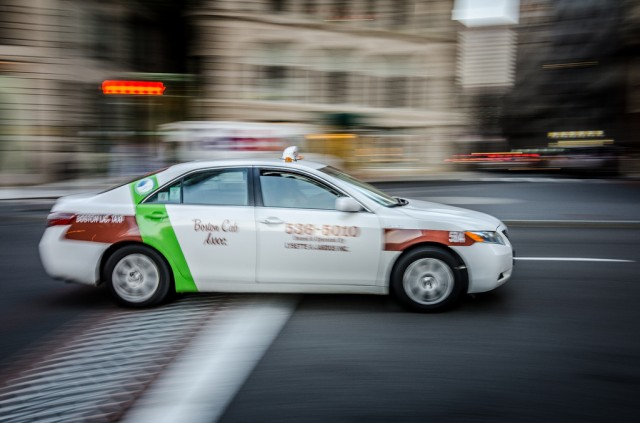 Roughly 25 percent of Boston's taxis can now be hailed via a new smartphone app, Hailo.