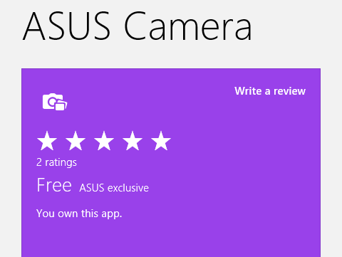 "Some of the apps are labeled as ""Asus exclusives"" and can't be found in the Windows Store on generic Windows 8 computers."