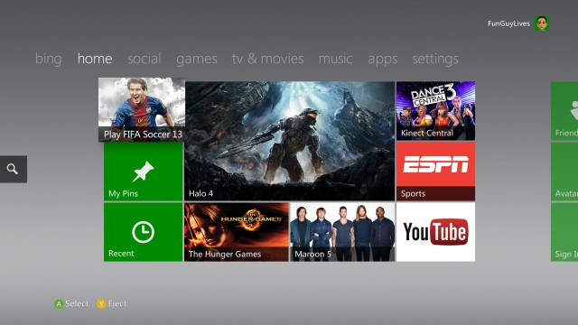 If this looks a lot like the old Xbox 360 Dashboard, that's because it is.
