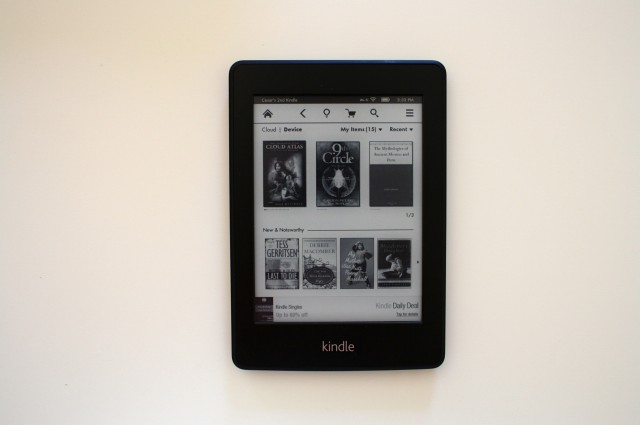 Front view of Amazon's Kindle Paperwhite.