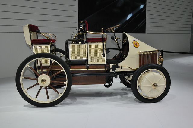 The Lohner Porsche Semper Vivus Replica at the Geneva Motor Show 2011.