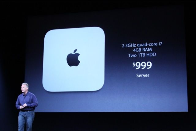 Mac Mini server specs and price.