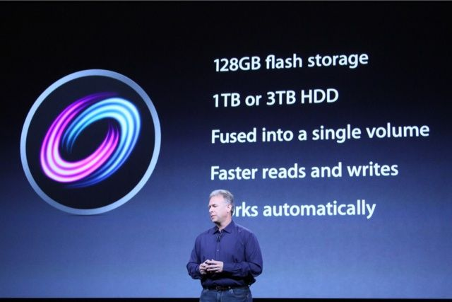 Apple Fusion Drive manages an SSD and a hard disk together as a single drive.